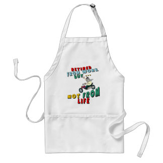 Retired From Work (3) Adult Apron