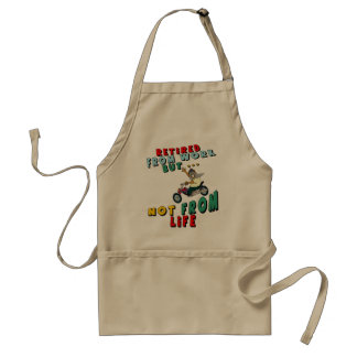 Retired From Work Adult Apron