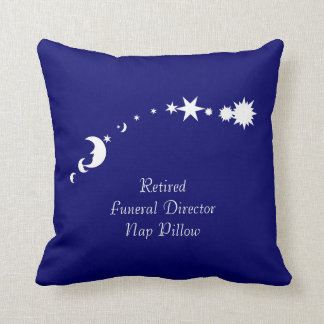 Retired Funeral Director Nap Pillow Moon and Stars