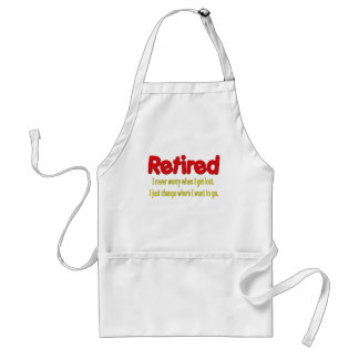 Retired Funny Saying Aprons