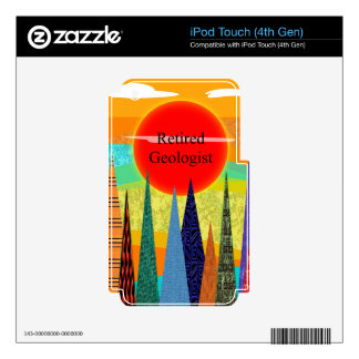 Retired Geologist Mountain Art Skin For iPod Touch 4G