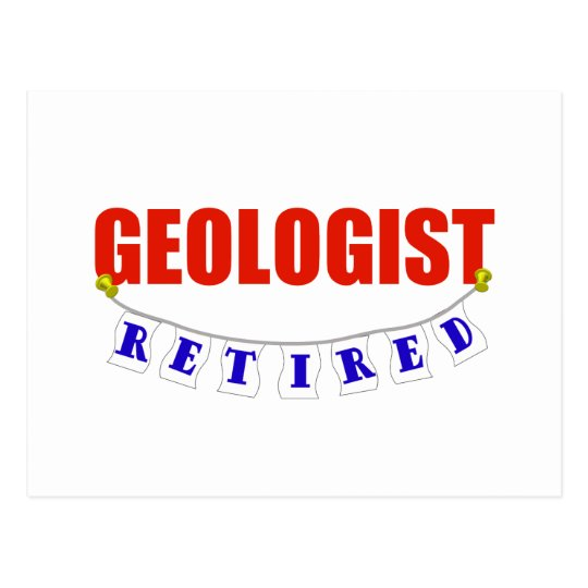 RETIRED GEOLOGIST POSTCARD