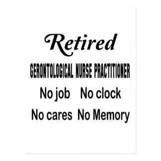 Retired Gerontological Nurse Practitioner No job N Postcard