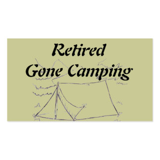 Retired Gone Camping Double-Sided Standard Business Cards (Pack Of 100)