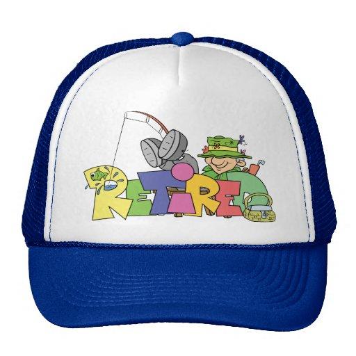 Retired Gone Fishing Mesh Hat