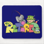 Retired Gone Fishing Mouse Pad