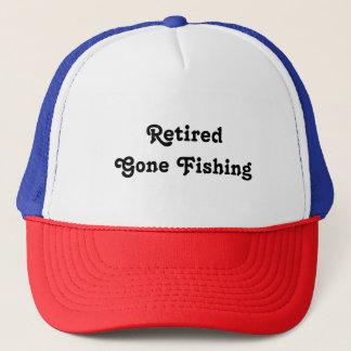 Retired Gone Fishing Red White & Blue Hat