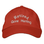 Retired Gone Hunting 2 Embroidered Baseball Hat