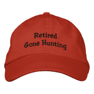 Retired Gone Hunting Embroidered Baseball Cap