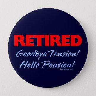 Retired Goodbye (dark blue) Button
