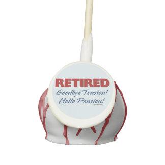Retired: Goodbye Tension Hello Pension! Cake Pops