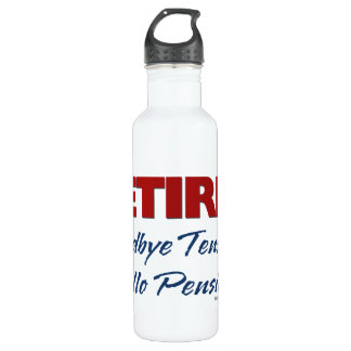 Retired: Goodbye Tension Hello Pension! 24oz Water Bottle