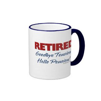 Retired: Goodbye Tension Hello Pension! Ringer Coffee Mug