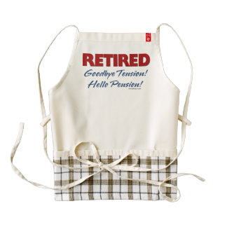 Retired: Goodbye Tension Hello Pension! Zazzle HEART Apron