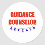 RETIRED GUIDANCE COUNSELOR ROUND STICKERS