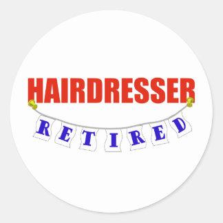 RETIRED HAIRDRESSER CLASSIC ROUND STICKER