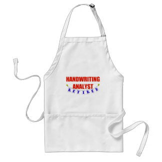 RETIRED HANDWRITING ANALYST ADULT APRON