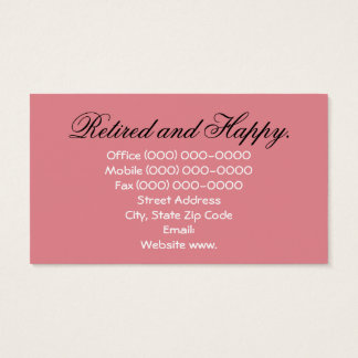 Retired business cards templates zazzle retired happy business cards blossoms retirement stopboris Images