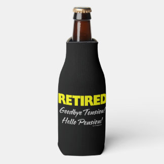 Retired Hellow Pension (Dark) Bottle Cooler