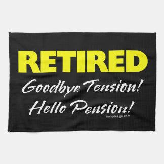 Retired Hellow Pension (Dark) Kitchen Towel