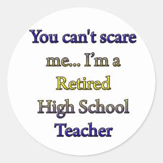RETIRED HIGH SCHOOL TEACHER CLASSIC ROUND STICKER