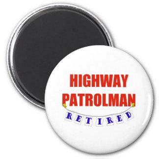 RETIRED HIGHWAY PATROLMAN 2 INCH ROUND MAGNET