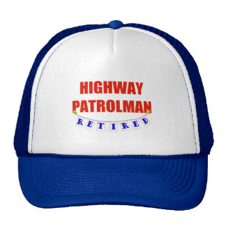 RETIRED HIGHWAY PATROLMAN TRUCKER HAT