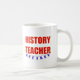 RETIRED HISTORY TEACHER CLASSIC WHITE COFFEE MUG
