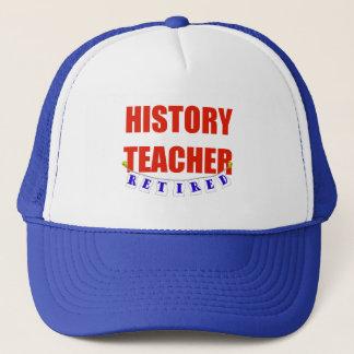 RETIRED HISTORY TEACHER TRUCKER HAT