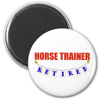 RETIRED HORSE TRAINER 2 INCH ROUND MAGNET