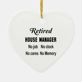 Retired House manager No job No clock No cares Ceramic Ornament