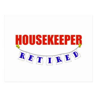 RETIRED HOUSEKEEPER POST CARD