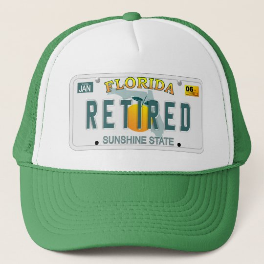 Retired in Florida hat