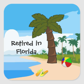 Retired in Florida Square Sticker