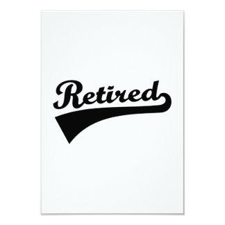 Retired 3.5x5 Paper Invitation Card