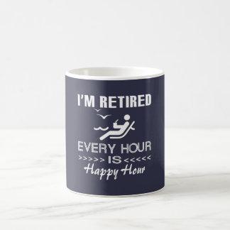 Retired is happy coffee mug