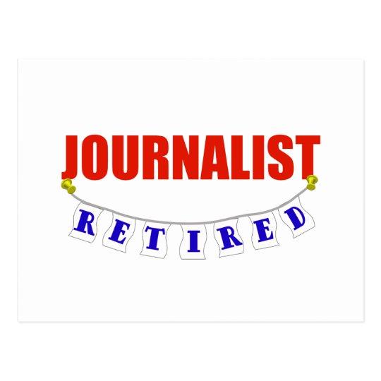 RETIRED JOURNALIST POSTCARD
