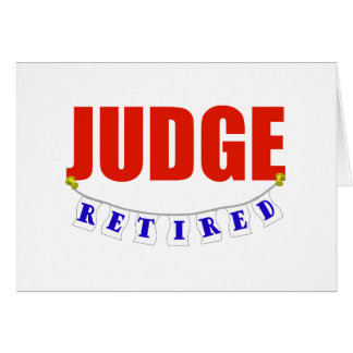 RETIRED JUDGE GREETING CARD