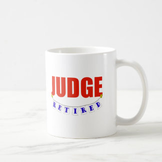 RETIRED JUDGE CLASSIC WHITE COFFEE MUG
