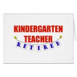 RETIRED KINDERGARTEN TEACHER CARD