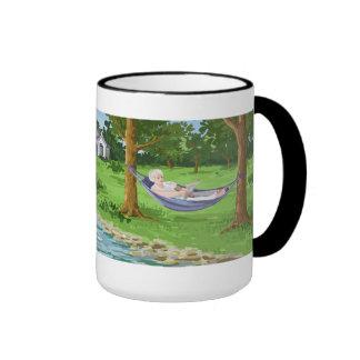 Retired Lady in Hammock Ringer Mug