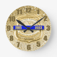 Retired Law Enforcement Award Clock