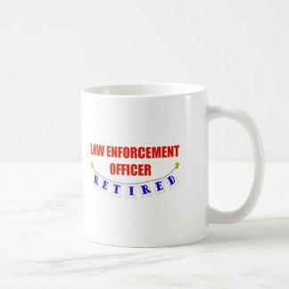 RETIRED LAW ENFORCEMENT OFCR COFFEE MUG