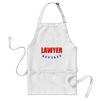 RETIRED LAWYER ADULT APRON