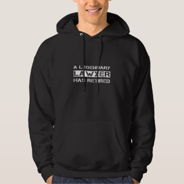 Retired Lawyer Attorney Retirement Party Funny Gif Hoodie