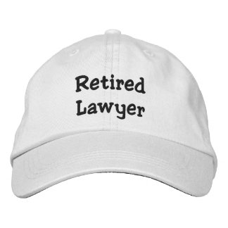 Retired Lawyer Personalized Adjustable Hat