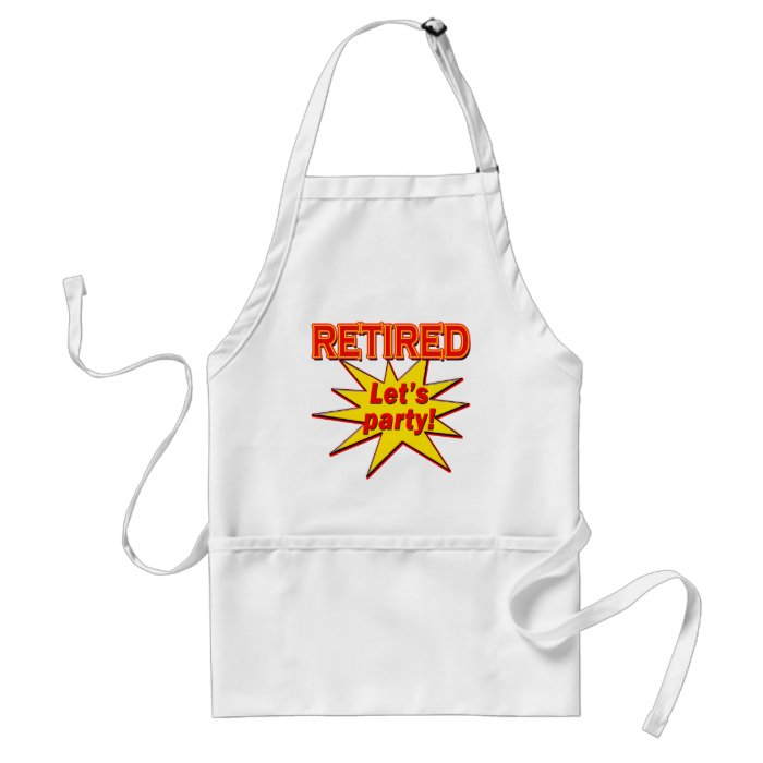 RETIRED - LET'S PARTY Tshirts and gifts Adult Apron