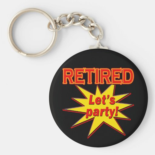RETIRED - LET'S PARTY Tshirts and gifts Basic Round Button Keychain