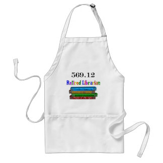 Retired Librarian 569.0 (Dewey Decimal System) Adult Apron
