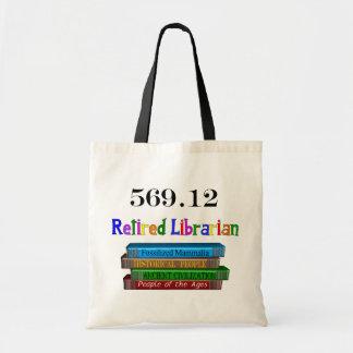 Retired Librarian 569.0 (Dewey Decimal System) Budget Tote Bag